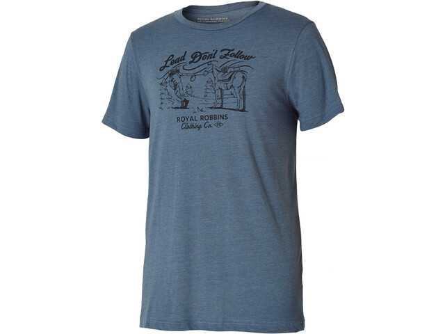 Royal Robbins Lead Don'T Follow T-shirt Homme, slate
